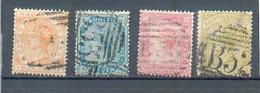 B 3 - MAURICE -  YT 57 - 58 - 60 - 61 ° Obli - Filigrane CC - Mauritius (...-1967)