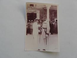 PHOTO ORIGINALE - TUNIS 1938 : Etat Major En Arrière Plan - Grand Officier De La Légion D'Honneur Par L'Amiral BLERY - Oorlog, Militair