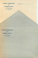 LEGION FRANCAISE DES COMBATTANTS - PUY DE DÔME - CLERMONT-FERRAND - LETTRE & ENVELOPPE - W.W.2. - Documents