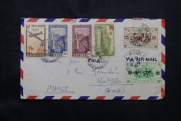 RÉUNION - Enveloppe De St Denis Pour La France En 1946 Par Avion, Affranchissement Recto / Verso - L 75588 - Covers & Documents