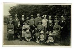 Ref 1421  -  Early Real Photo Postcard - Wedding Group - Ely Cambridge - Fashion Social Theme - Moda