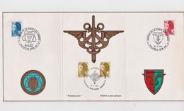 France : RARE, Carte éditée Par La Poste Aux Armées Avec 3 Oblitérations Différentes 1983, Paris, Pacifique, Allemagne - Gebruikt