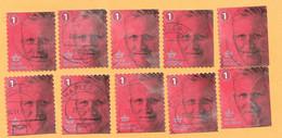 56 - BELGIQUE - 2006 --  Lot  De  10  Timbres N° 4490  Oblitérés  Du  Carnet  151 - Carnets 1953-....