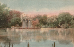"""Cartolina -Postcard /non Viaggiata -unsent /Roma,Tempio Sul Lago Di Villa Borghese -  Al Verso Pubblicità Caffe """"FRANCK"""" - Parcs & Jardins"""