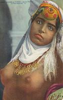 CARTE POSTALE ORIGINALE ANCIENNE : FEMME ARABE SEINS NUS PIN UP SEXY ET EROTIC DU SUD ALGERIEN SEINS NUS - Escenas & Tipos