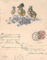 Pulcini Pasquali. M.M. Vienne, M. Munk.  Viaggiata 1923 - Sin Clasificación