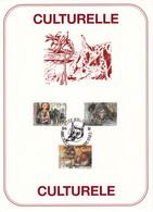 B01-202 Bel PTT FDC 2465 à 2467 Culturelle Légende CS - Carte Souvenir 5€ - Souvenir Cards