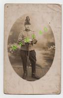 CARTE PHOTO - MILITARIA - 28 - CHATEAUDUN - MILITAIRE DU 1er REGIMENT DE CHASSEURS EN 1914 - WWI - Personaggi
