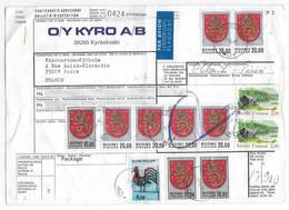 FINLANDE - Bulletin D'expédition COLIS POSTAL OSOITEKORTTI ADRESSKORT - De Kyroskoski 1981 - SUOMI FINLAND - Paketmarken