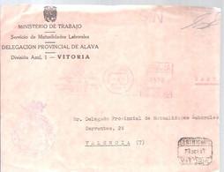 CARTA  CERTIFICADA  1971   ALAVA  MATASELLOS  FRANQUEO  MECANICO  SOLO FRONTAL - Franquicia Postal