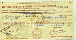 MD BON PERMETTANT L'ACHAT D'ARTICLES CHAUSSANTS En CAOUTCHOUC (sabots) COTM PRIQUELER PLANCHER LES MINES - Notgeld