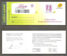FRANCE 2015.Marianne De CIAPPA . Lettre Suivie 20g Lilas-rose - Y&T N° 1177A. Adhésif. Neuve Sur Souche. TB. - 2013-... Marianne Van Ciappa-Kawena
