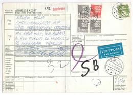 DANEMARK - Bulletin D'expédition COLIS POSTAL ADRESSEKORT - De Bronderslev 1970 - DANMARK DENMARK LUFTPOST - Paketmarken