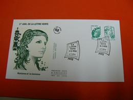 D232 / ENVELOPPE 1ER JOUR / LA LETTRE VERTE A 3 ANS - Collections
