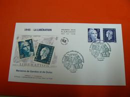 D232 / ENVELOPPE 1ER JOUR / MARIANNE DE GANDON ET DULAC LA LIBERATION - Verzamelingen
