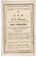 INGELMUNSTER  - SINT-BAAFS-VIJVE - Bidprentje Van Henri Vercoutere -  + 1853 - Religion & Esotericism