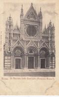 SIENA-FACCIATA-DELLA CATTEDRALE-CARTOLINA NON VIAGGIATA -1900-1904 - Siena