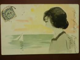 CPA  Art Nouveau  FEMME   Regardant La Mer   Lllustrateur Non Signé   1904 - Ohne Zuordnung