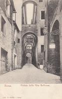 SIENA-VEDUTA DELLA VIA GALLUZZA-CARTOLINA NON VIAGGIATA -1900-1904 - Siena