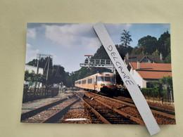 SNCF : Photo Originale L THOMAS : Autorail Turbotrain RTG T 2021 à La Coquille (24) En 1999 - Trains