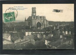 CPA - TOUL - L'Eglise St Gengoult Survolée Par Un Aéroplane - Toul