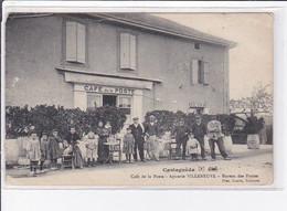 CASTAGNEDE : Café De La Poste - épicerie Villeneuve - Bureau Des Postes - Très Bon état - Sonstige Gemeinden