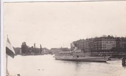 """Photographie Particulier Suisse  GE Genève Le Bateau A Vapeur  """" General Dufour  """" 1928 Ref 1584 - GE Genève"""