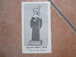 Effigie Prodigiosa S.GELTRUDE Chiesa Dell'Orfanotrofio Corso Vittorio Emanuele Torre Del Greco - Devotion Images
