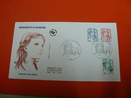 D233 / ENVELOPPE 1ER JOUR / MARIANNE ET LA JEUNESSE - Verzamelingen