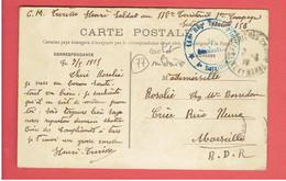 RANTILLY LE CHATEAU 1915 CACHET MILITAIRE 118e REGIMENT TERRITORIAL D INFANTERIE - Altri Comuni