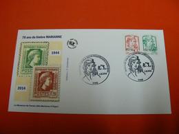 D233 / ENVELOPPE 1ER JOUR / MARIANNE ET LA JEUNESSE / 70 ANS DU TIMBRE MARIANNE - Verzamelingen