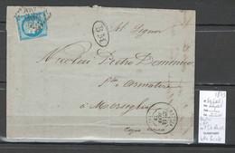 France -Lettre De BASTIA - Corse - IDENTIFIEE DE L'ILE ROUSSE - 1873 - Cachet BM - 1849-1876: Periodo Classico
