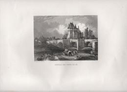 Gravure Ancienne/Bords De Loire/Château Des PONTS De CE/ Dessinées  Et Gravées Par ROUARGUE Frères/ Paris/1850     LOIR1 - Engravings