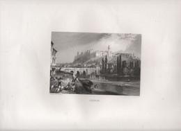 Gravure Ancienne/Bords De Loire/CHINON/ Dessinées  Et Gravées Par ROUARGUE Frères/ Paris/1850     LOIR2 - Engravings