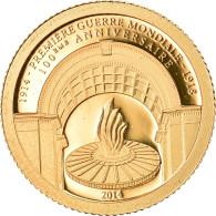 Monnaie, Gabon, Première Guerre Mondiale, 1000 Francs CFA, 2014, FDC, Or - Gabon