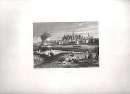 Gravure Ancienne/Bords De Loire/ANGERS/ Dessinés  Et Gravés Par ROUARGUE Frères/ Paris/1850     LOIR5 - Engravings