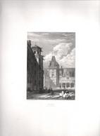 Gravure Ancienne/Bords De Loire/BLOIS (Cour Du Château)/ Dessinés  Et Gravés Par ROUARGUE Frères/ Paris/1850     LOIR6 - Engravings