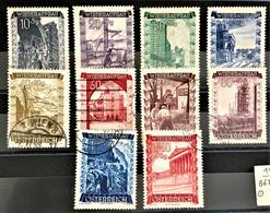 AUSTRIA 1948  - Canceled - ANK 867-876 - 1945-60 Used