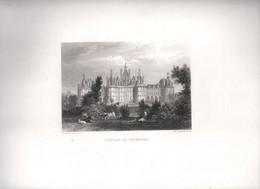 Gravure Ancienne/Bords De Loire/CHÂTEAU De CHAMBORD / Dessinés  Et Gravés Par ROUARGUE Frères/ Paris/1850     LOIR9 - Gravures