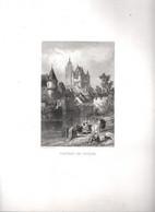 Gravure Ancienne/Bords De Loire/CHÂTEAU De LOCHES / Dessinés  Et Gravés Par ROUARGUE Frères/ Paris/1850     LOIR10 - Engravings