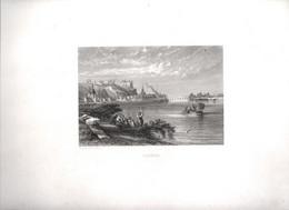 Gravure Ancienne/Bords De Loire/SAUMUR / Dessinés  Et Gravés Par ROUARGUE Frères/ Paris/1850     LOIR11 - Engravings
