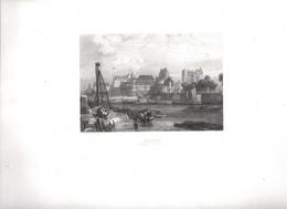 Gravure Ancienne/Bords De Loire/NANTES Château Et Cathédrale /Dessinés  Et Gravés Par ROUARGUE Frères/Paris/1850  LOIR13 - Engravings