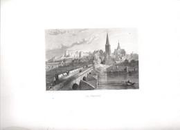Gravure Ancienne/Bords De Loire/La CHARITE /Dessinés  Et Gravés Par ROUARGUE Frères/Paris/1850  LOIR14 - Engravings