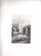 Gravure Ancienne/Bords De Loire/ANGERS Montée Saint Maurice/Dessinés  Et Gravés Par ROUARGUE Frères/Paris/1850  LOIR15 - Engravings