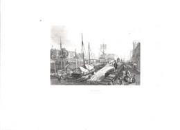 Gravure Ancienne/Bords De Loire/NANTES,vue De L'ile Gloriette/Dessinés  Et Gravés Par ROUARGUE Frères/Paris/1850  LOIR17 - Engravings