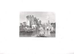 Gravure Ancienne/Bords De Loire/Château De CLISSON /Dessinés  Et Gravés Par ROUARGUE Frères/Paris/1850  LOIR18 - Engravings