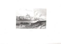 Gravure Ancienne/Bords De Loire/CANDES  /Dessinés  Et Gravés Par ROUARGUE Frères/Paris/1850  LOIR19 - Engravings