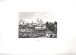 Gravure Ancienne/Bords De Loire/BOURGES  /Dessinés  Et Gravés Par ROUARGUE Frères/Paris/1850  LOIR20 - Engravings