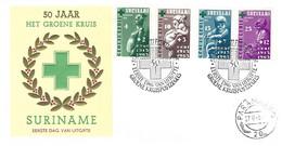 Suriname Surinam 1965 Paramaribo First Aid Prevention Green Cross FDC Cover - Primeros Auxilios