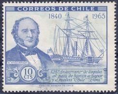 CHILI -  L'arrivée Des Navires à Vapeur Au Chili Et Au Pérou - Ships